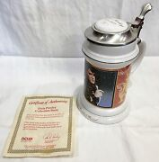 Evis Presley Collector's Stein Beer Mug With Coa Never Used Life Of Elvis