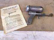 New-hiller Atom Ray Gun From The 1940and039s In The Original Box With Original Flyer