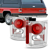 Factory Chrome Tail Lights Lamps Brake Pair For 1973-1986 Chevy Gmc C/k Pickup
