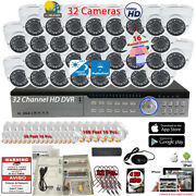 32 Channel Dvr 32x 1080p Manual Zoom Cctv Complete Security Camera System W/4tb