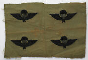 Four Wartime Vietnamese Hand Embroidered Arvn Airborne Wings Paratrooper Patch