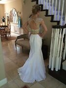 640 Nwt White Two Piece Jovani Prom/pageant/formal/wedding Dress/gown 25621 2