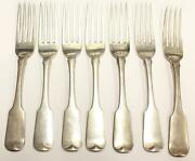 1815 Dublin Ireland 7x Sterling Silver Forks Mathew West Armstrong Crests