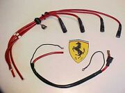 Ferrari 308 Engine Ignition Distributor Spark Plug Wires_coil Wire_front Bank Oe