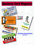500 Business Card Magnets Ultra Thick 30 Pt - Promotional Item Full Color .