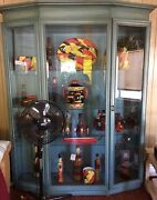 Imported Glass China Cabinet With Canned Lighting