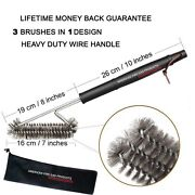 Ss Brushes Perfect For Gas, Electric, Smoker And Infrared Bbq Grills + Nylong Bag