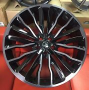 22 Hawke Harrier Alloys 5x120 Fits Range Rover Vogue Sport Discovery Black Pol