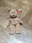 Rare Ty Beanie Baby And039curlyand039 Retired Bear With Several Errors-mint