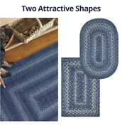 Denim Jute Braided Area Rug By Homespice Decor. Choose Your Shape And Size
