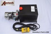 3215s Hydraulic Power Unit Hydraulic Pump Single Acting 12v 15qtdump Trailer