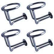 4pcs Stainless Steel Ringlike Drink Cup Holder For Marine Boat Yacht Dia 3-1/2