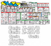 Genie Z20/8 Boomlift Decal Kit Safety Only Sn 135 To Current