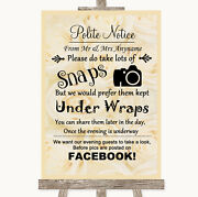 Cream Roses Donand039t Post Photos Facebook Personalised Wedding Sign