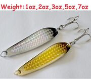Gold And Silver Casting Crocodile Fishing Spoons Choose Weight And Pieces 2 To 20