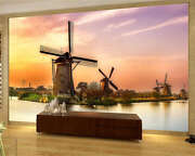 Holland Mill Farm Sunset Full Wall Mural Photo Wallpaper Print Kid Home 3d Decal