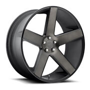 Dub Baller S116 24x9 5x115 Offset 15 Matte Black And Machined Quantity Of 4
