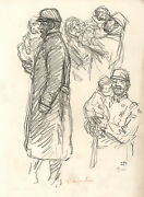 Alexandre Thandeacuteophile Steinlen Wwi Soldiers And Peasants 5 Lithographs 1914-1918