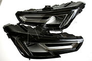 Led Headlights Front Lamps Left+right Pair Fits Audi A4 B9 2015-