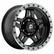 Fuel Anza D557 16x8 6x139.7 Offset 1 Matte Black With Anthracite Ring Qty Of 4