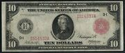 Fr900b 10 1914 Frn Minneapolis Red Seal Rare Only 28 Recorded Vf Wlm3322