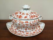 Mottahedeh Sacred Bird And Butterfly Oval Tureen And Lid With Underplate
