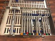 Sinus Lift Kit Pro Osteotome 12 Concave Tips Mead Mallet And Dental Cassette