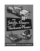1954 Craftsman Jointer Shaper And Thickness Planer Instructions