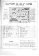 1930s Craftsman 102.05600 6 Jointer Instructions