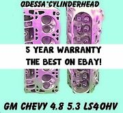2 Gm Chevy 4.8 5.3 Ohv Ls4 Silverado Tahoe Express Cylinder Heads 99-05 No Core