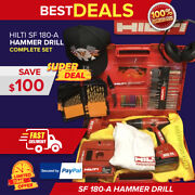 Hilti Sf 180-a Cordless Hammer Drill, Preowned, Free Bits, Extras, Fast Ship
