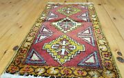 Antique 1and0398andtimes3and0391tribal Cushion Cover Wool Pile Rug Turkey