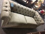 Pottery Barn Pb Chesterfield Sofa Couch 88 Everyday Suede Light Wheat