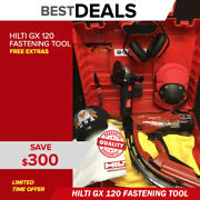 Hilti Gx 120 Fastening Tool Preowned Free Grinder Extras Fast Shipping