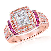 1 Ct. T.w. Cubic Zirconia And Lead Glass-filled Ruby Ring