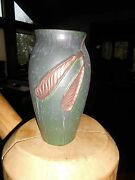 #247 Ephraim Faience Pottery Copper Maple Seed Vase Discontinued 150 Produced