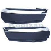 94-97 Chevy S10 Pickup Front Bumper Face Bar Extension End Left And Right Set Pair