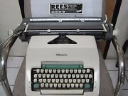 Olympia German Sg3 Manual Typewriter 15 Carriage With Warranty