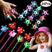 Led Party Favors Glow In The Dark Party Supplies Light Up Classroom Prizes 24 Pc