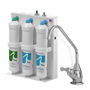 3 Stage Undercounter Drinking Water Filter With Chrome Dispenser, Polished Chrom