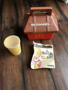 1975 Happy Meal Box With Cup Andlid And Coloring Book Used