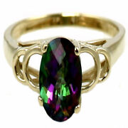 Mystic Fire Topaz 10ky Or 14ky Gold Ladies Ring R300-handmade