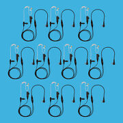 10 Pcs Store Radio 2-wire Clear Coil Tube Earpiece For Motorola Cls1410 Rdm2020