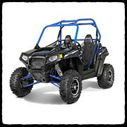 Polaris Rzr 800 S Full Barkerand039s Dual Exhaust System Brushed Aluminum Blue Tags