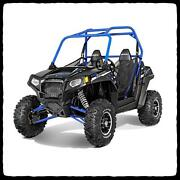 Polaris Rzr 800 S Full Barkerand039s Dual Exhaust System Brushed Aluminum Red Tags