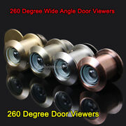 2pcs Brass Home Security 260 Degree Wide Angle Door Viewers Peephole For 3559mm