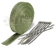 Titanium Lava Exhaust Pipe Heat Wrap 1 X 50and039 Motorcycle Header Insulation