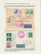 2 Diff Hindenburg 8th North American Flight Postcard And Cover 9/17-20,1936 Bt8556