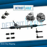 Complete 9pc Power Steering Rack And Pinion Suspension Kit For Chevy Pontiac Fwd