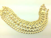 14kt Yellow Gold Shiny Men / Women Curb Type Chain 2.6mm To 10mm